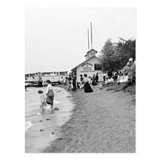 Bath House, Bois Blanc Island, MI 1903 Postcard