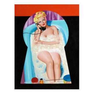 Bath Keyhole Pin Up Postcard