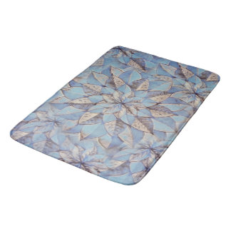 Bath Mat Abstract Floral Painting