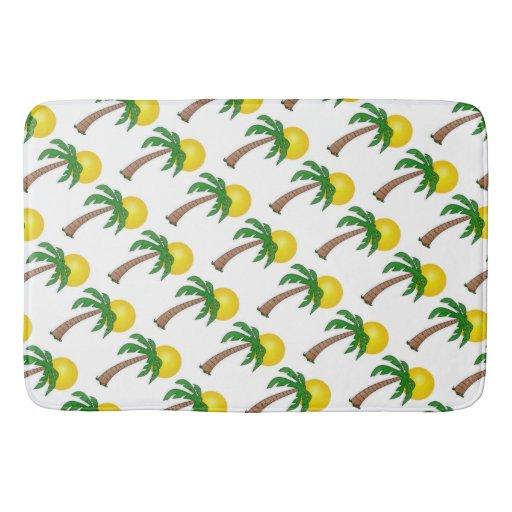 Bath MatPalm Trees and Sun Bathroom Mat  Zazzle # Sun Shower Rug_220024