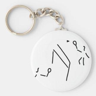 bath min tone federball player keychain