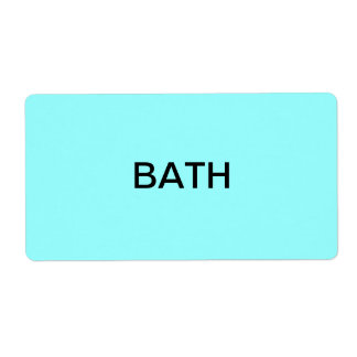 Bath Packing & Moving Personalized Shipping Labels