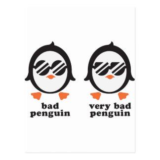 bath penguin - penguin postcard