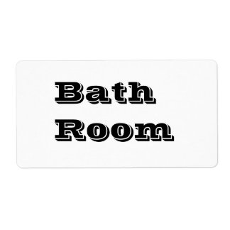 Bath Room Moving Labels in White