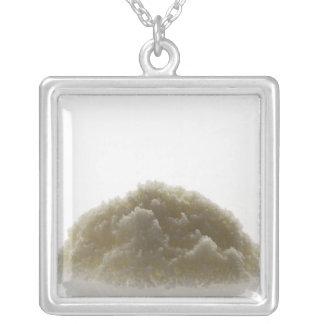 Bath Salt Square Pendant Necklace