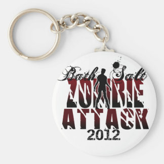 Bath Salt Zombie Attack 2012 Keychain