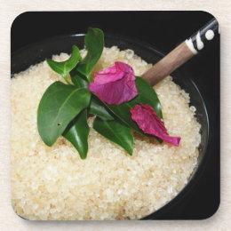 Bath Salts at a Spa or Beauty Salon Drink Coaster