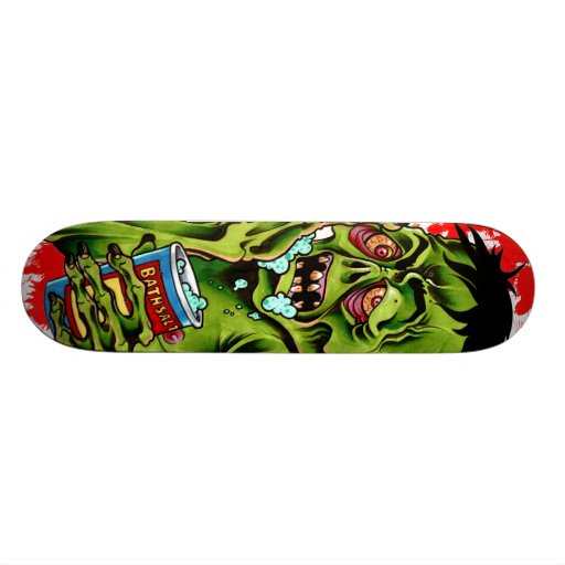 Bath Salts Zombie Skateboard