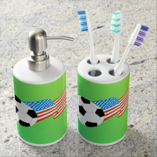 Bath Set: Soccer Bathroom Set