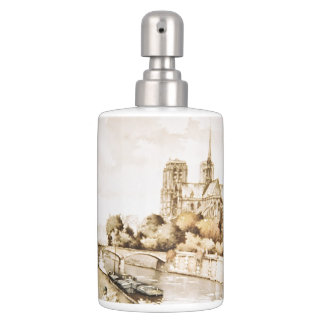 Bath set with 'Notre Dame Cathedral' image