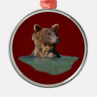 bath time bear metal ornament