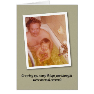 Bath time Birthday - FUNNY Card