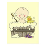 Bath Time Boy Tshirts and Gifts Postcard