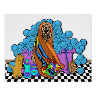 Bath Time For Cats And Dogs Poster