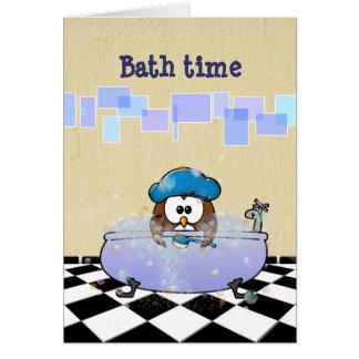 bath time fun card