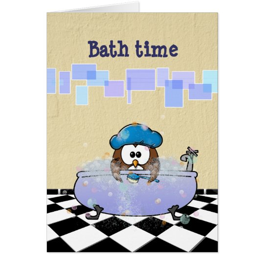 bath time fun card