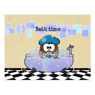 Bath Time Fun Cartoon Owl Gifts - T-Shirts, Art, Posters ...