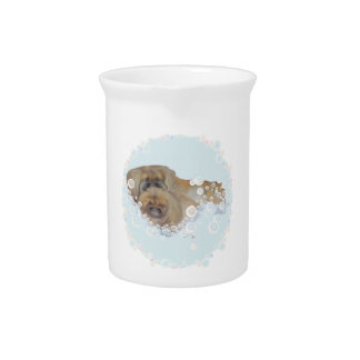 Bath Time Pekingese Duo Drink Pitcher