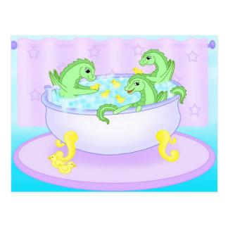 Bath time postcard