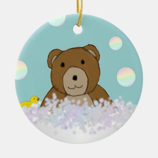 Bath Time Teddy Ornament