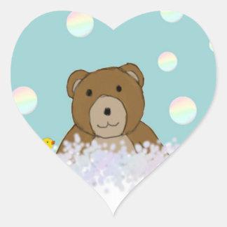 Bath Time Teddy Stickers