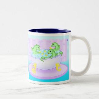 Bath time Two-Tone coffee mug