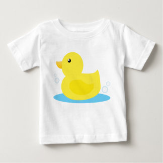 Bath Time Yellow Duck Baby T-Shirt