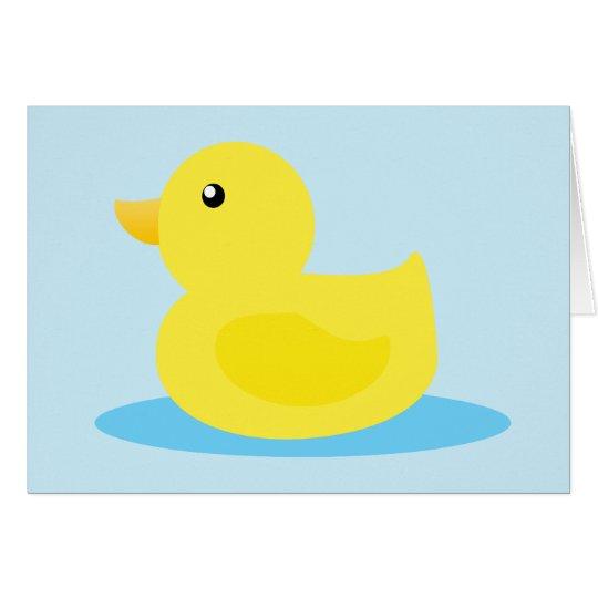 Bath Time Yellow Duck Card
