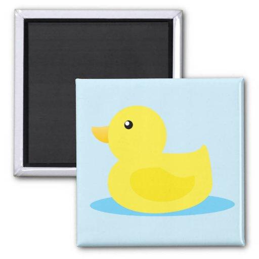 Bath Time Yellow Duck Fridge Magnets