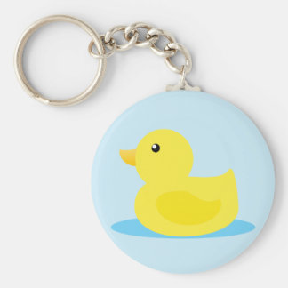 Bath Time Yellow Duck Keychain