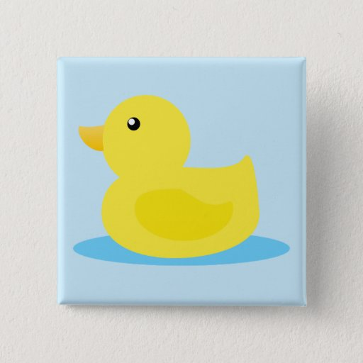 Bath Time Yellow Duck Pinback Button