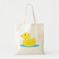 Bath Time Yellow Duck Tote Bag at Zazzle