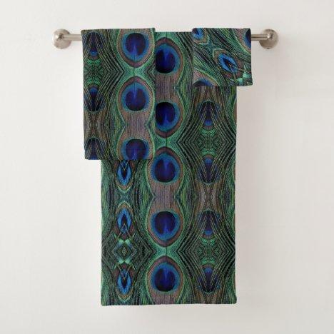 Bath Towel Set - Peacock