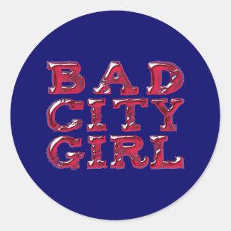 Bath town center Girl Round Stickers