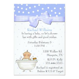 """Bath Tub Baby Boy Shower Invitation 5"""" X 7"""" Invitation Card"""