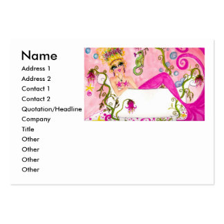 Bath tub mermaid , Name, Address 1, Add... Large Business Card