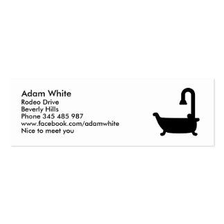 Bath tub shower business card template