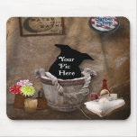 Bath Tub Wash Bucket Western Photography Backdrop Mouse Mat