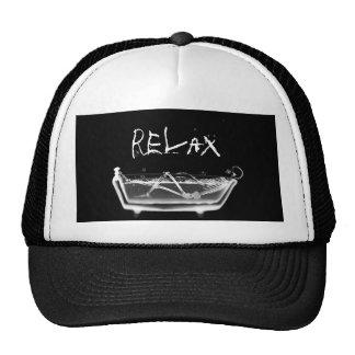 Bath Tub X-Ray Skeleton Black & White Mesh Hats