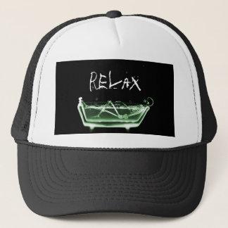 Bath Tub X-Ray Skeleton Green Trucker Hat