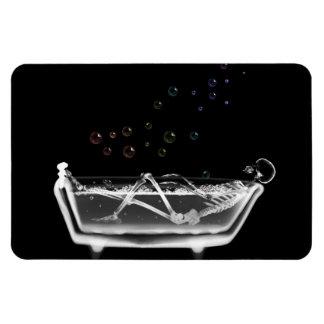 Bath Tub X-Ray Skeleton - Rainbow Bubbles Magnet