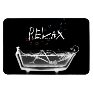 Bath Tub X-Ray Skeleton - Rainbow Bubbles - Relax Magnet