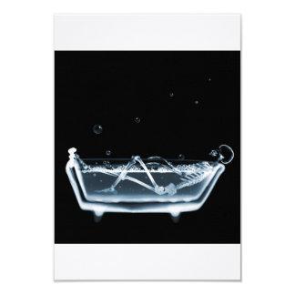 BATH TUB X-RAY VISION SKELETON - BLUE CARD