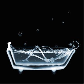 BATH TUB X-RAY VISION SKELETON - BLUE CUTOUT