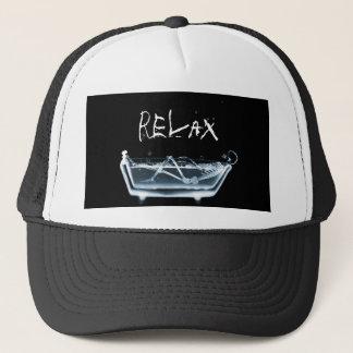 BATH TUB X-RAY VISION SKELETON - BLUE TRUCKER HAT