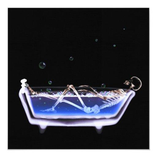 BATH TUB X-RAY VISION SKELETON - ORIGINAL CARD