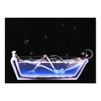 BATH TUB X-RAY VISION SKELETON - ORIGINAL CARD