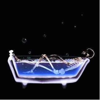 BATH TUB X-RAY VISION SKELETON - ORIGINAL CUTOUT