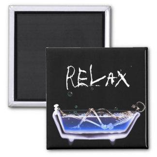 BATH TUB X-RAY VISION SKELETON - ORIGINAL MAGNET