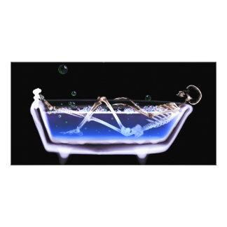 BATH TUB X-RAY VISION SKELETON - ORIGINAL PHOTO CARDS